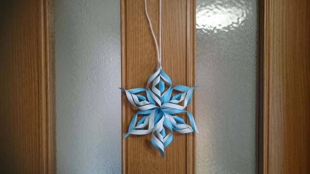 雪の結晶 折り紙